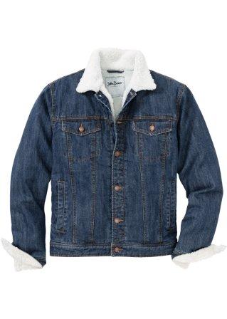 Elegante Giacca di jeans con fodera in pellicciotto sintetico regular fit