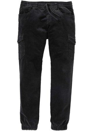 Qualità superiore Pantalone cargo senza chiusura in velluto elasticizzato regular fit