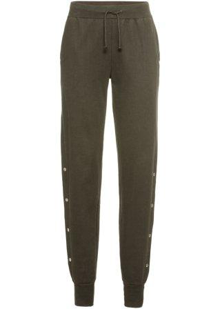 Pantalone in felpa con bottoni ai lati