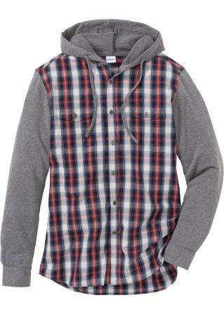 Camicia a manica lunga con maniche in felpa