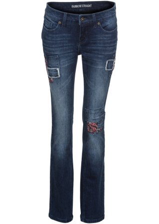 Jeans straight con toppe