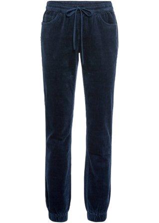 Pantalone in velluto effetto lavato senza chiusura