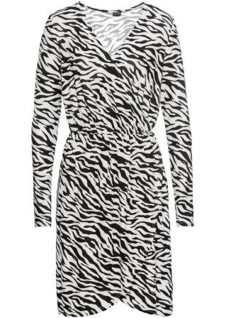 Abito zebrato in jersey