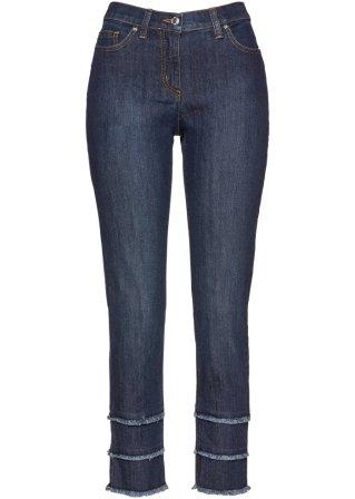 Jeans elasticizzato 7/8 con frange