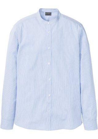 Camicia a manica lunga con colletto alla coreana slim fit