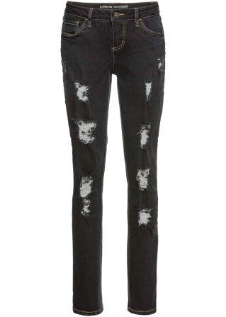 Jeans boyfriend con zone sdrucite