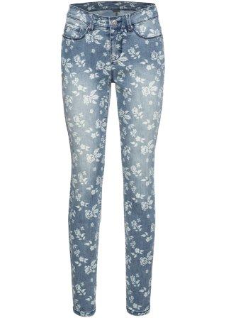 Jeans elasticizzato a fiori