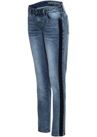 Authentic Jeans boyfriend con bande laterali