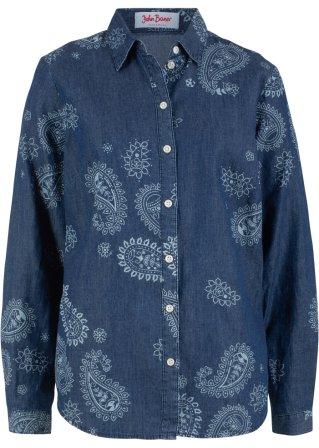 A buon mercato Camicia di jeans fantasia a manica lunga
