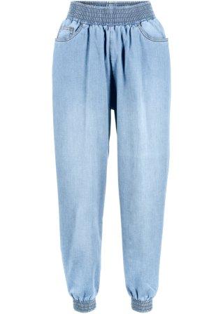 Jeans baggy con cinta elastica
