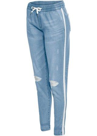 Jeans baggy con allacciatura elastica