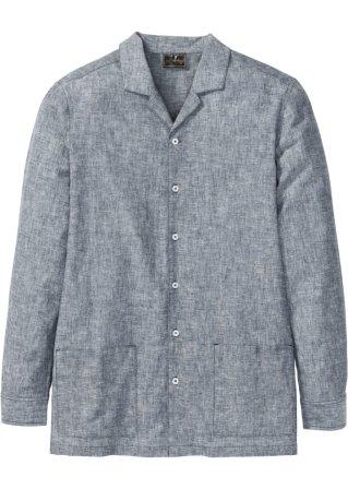 Giacca camicia in misto lino