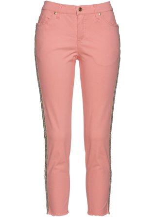 Jeans elasticizzato 7/8 con bande laterali