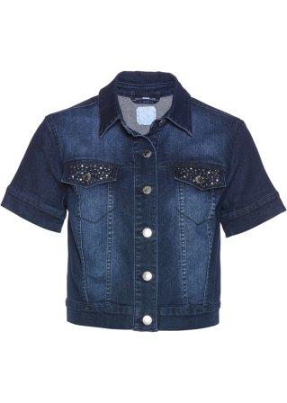 Bolero di jeans con cristalli Swarovski®