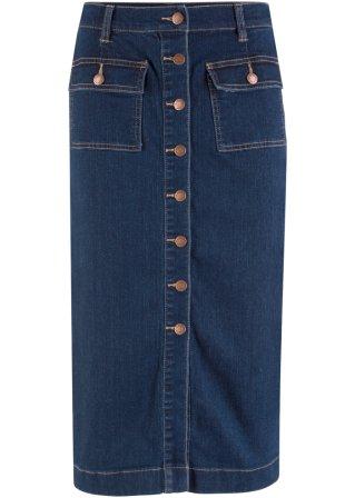 A prezzo ridotto Gonna di jeans elasticizzata midi
