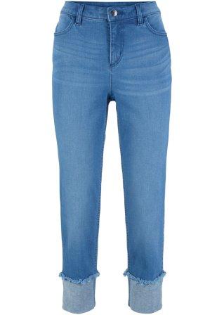 Jeans elasticizzato con risvolto 7/8 STRAIGHT Authentik
