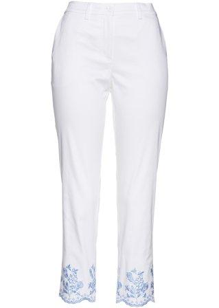 Pantalone 7/8 con ricami