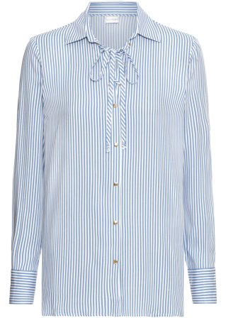 Camicia a righe in viscosa