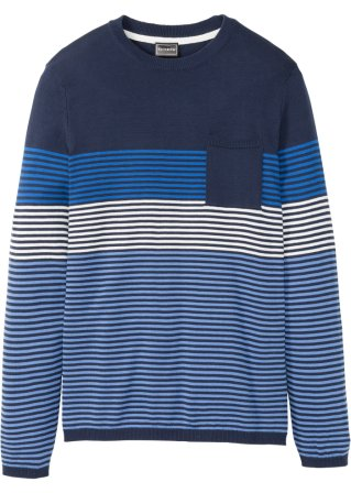 Pullover a righe regular fit