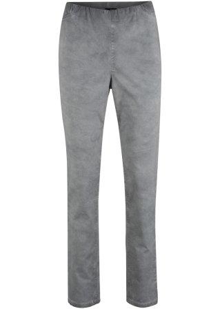 Pantalone senza chiusura in cotone con effetto usato