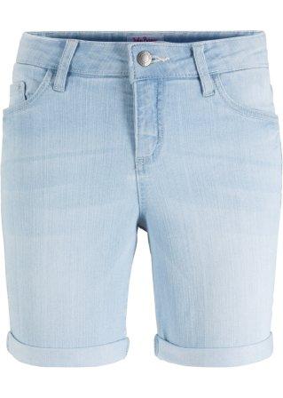 Bermuda comfort in jeans elasticizzato