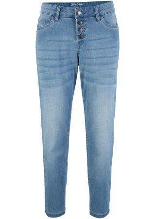 Jeans boyfriend ultra elasticizzati alla caviglia