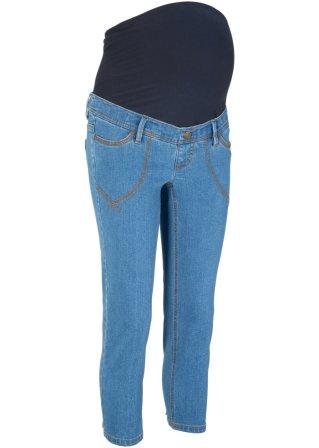 Jeans prémaman 3/4 con risvolto fantasia