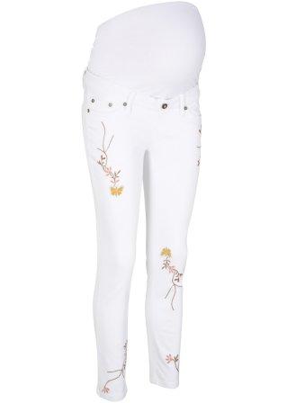Jeans prèmaman 7/8 skinny con ricami