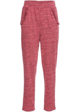 Pantalone in maglina con volant