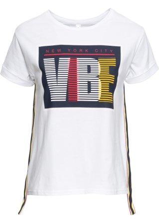 Le vendite T-shirt mit con bande laterali