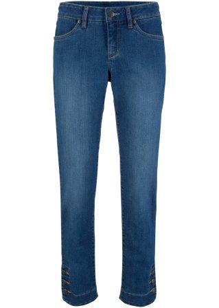 Jeans elasticizzato comfort 7/8 con bottoni al fondo