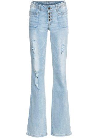 Jeans bootcut con intreccio