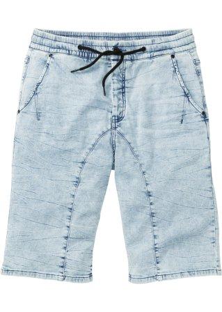 Bermuda di jeans in felpa regular fit
