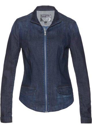 Genuine contatore Giacca di jeans con cerniere