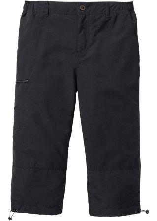 Pantalone 3/4 in microfibra con vita elasticizzata ai lati.