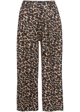 Pantalone 7/8 ampio con cintura
