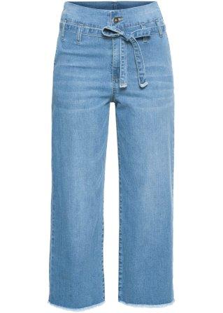 Culotte di jeans con cintura
