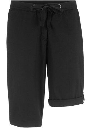 Pantaloncino in popeline con lunghezza regolabile