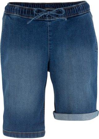 Sconto Massive Bermuda di jeans con cinta elastica