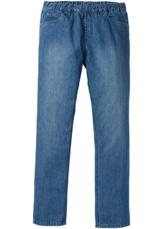 Jeans con elastico in vita regular fit straight