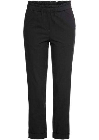 Prezzo basso Pantalone in misto lino con cinta elastica