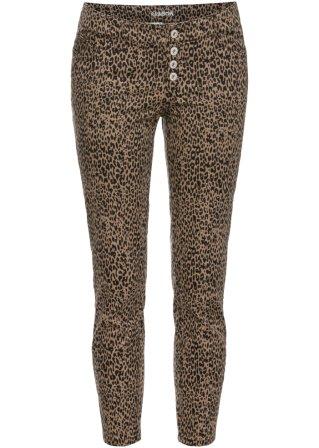 Bella vista Pantalone skinny leopardato