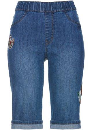 Bermuda di jeans con ricami