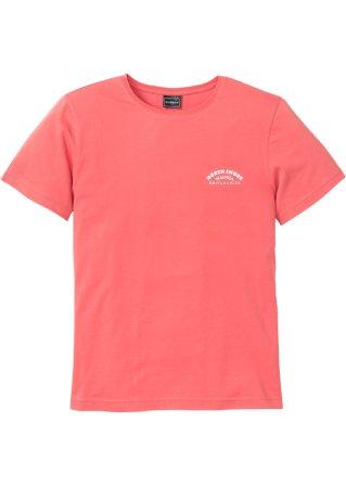 vari formati T-shirt con stampa sulla schiena slim fit