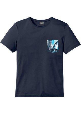 T-shirt con taschino fantasia slim fit