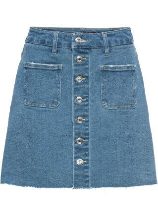 Gonna di jeans con bottoni
