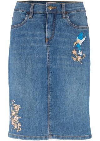 Best-selling Gonna in jeans elasticizzato con ricami