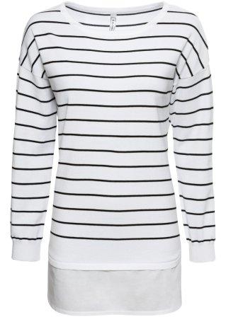 Maglione con inserto di camicia