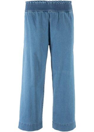 Jeans elasticizzato con elastico e gamba larga