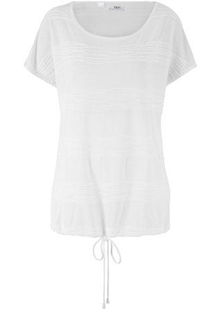 Elegante T-shirt operata con fondo regolabile
